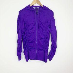 Athleta Circuit Jacket Zip Up Ruched Hoodie Size L